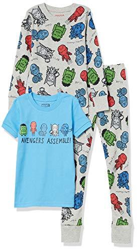 Spotted Zebra Disney Star Wars Snug-Fit Cotton Pajamas Sleepwear Pajama-Sets, Marvel Avengers Assemble, 6-7...