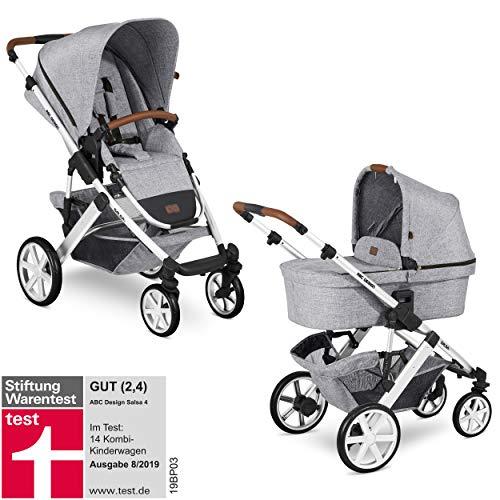ABC Design Kinderwagen Salsa 4 – Kombi-Wagen für Neugeborene & Babys bis 22kg – Inkl. Sportsitz &...