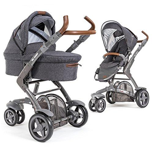 ABC Design 3-Tec - 2in1 Kombikinderwagen Set/Kinderwagen Komplettset inkl. Babywanne und Buggy -...