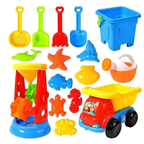 Xzbling Kinder Strand Spielzeug Set, Buntes Kinderstrand-Sandspielzeug Kinder Wasserspielzeug Set Kinder...