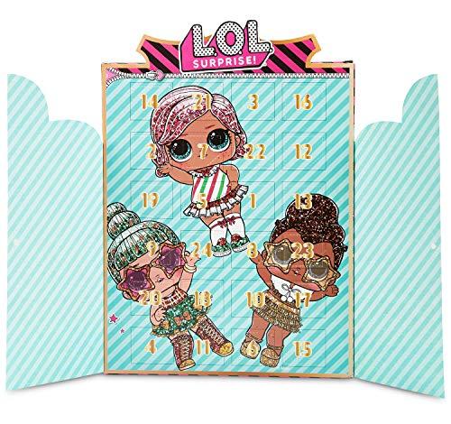 L.O.L. Surprise! Adventskalender 2020 Kinder, Schmuck Adventskalender 24 LOL Puppen Charms, Armband und...