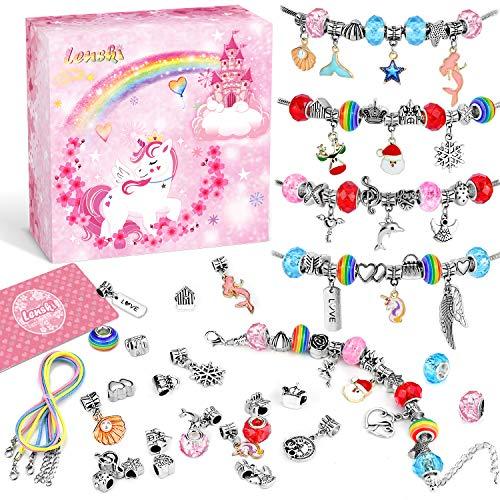 Lenski Mädchen Geschenke 4-11 Jahre - Charm Armband Kit DIY, Schmuck Basteln Mädchen Geschenke für...