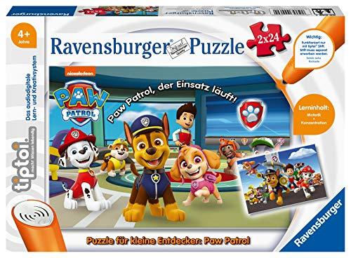Ravensburger tiptoi Spiel 00069 Puzzle für kleine Entdecker: Paw Patrol - 2x24 Teile Kinderpuzzle ab 4...