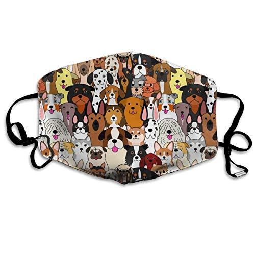 Hunde Bunte Mode waschbare Anti-Staub-Maske Gesichts-Mund-Maske, Mode Wiederverwendbare waschbare...