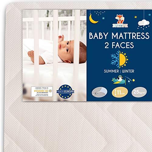 Sweety Fox - Babymatratze 60x120 - Babybett und Kinderbett - Wendbar mit Sommer- und Winterseite - Komfort,...