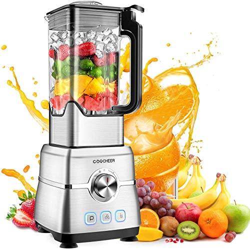 Standmixer Smoothie Maker, COOCHEER 2000W Mixer, 30000 U/min Professioneller Shakes Blender, Mühle und...