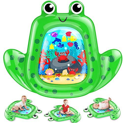 VATOS Baby Wassermatte Groß, Baby spielzeug 3 6 9 Monate, aufblasbare Wasserspielmatte ist perfektes...
