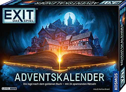 KOSMOS 681951 EXIT - Adventskalender 2021, Die Jagd nach dem goldenen Buch, mit 24 spannenden Rätseln ab 10...