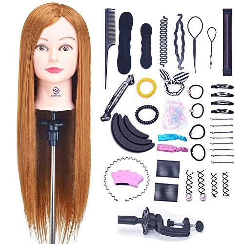 SIGHTLING 26' Übungskopf Frisierkopf Friseur 50% Echthaar Haar Perückenkopf Puppenkopf Übungskopf...