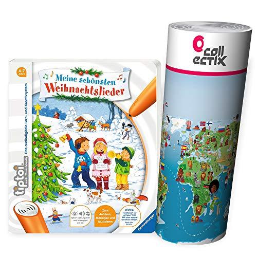 Ravensburger tiptoi® Weihnachten Musik Kinder Lieder Buch | Meine schönsten Weihnachtslieder + Kinderlieder...