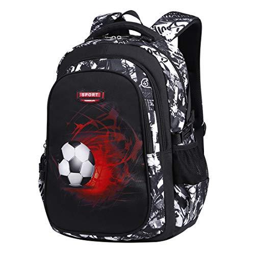 Asge Schulrucksack Jungen Teenager Schultaschen Mädchen Ranzen Ergonomischem Kinder Rucksäcke Fußball Druck...