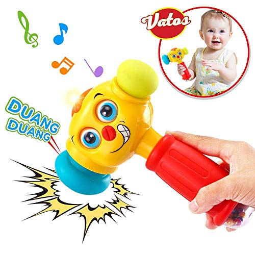 VATOS Licht & Musik Baby Spielzeug Hammer für Babys & Kleinkinder ab 12 bis 18 Monate Lustige veränderbare...