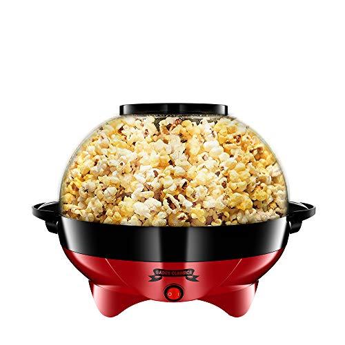 Gadgy ® Popcornmaschine l 800W Popcorn Maker mit Antihaftbeschichtung und Abnehmbares Heizfläche l Still und...
