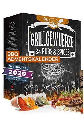 Barbeque Adventskalender 2020 I BBQ Adventskalender für Grillfans I 24 edle Gewürzspezialitäten I...