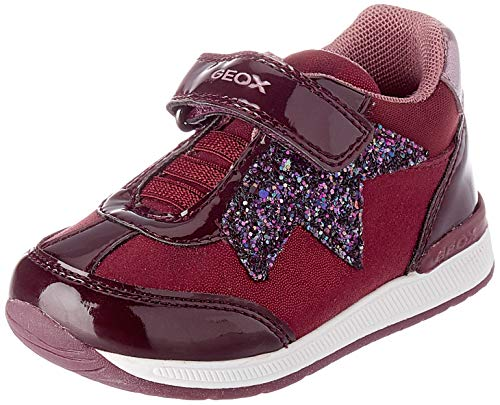 Geox Baby-Mädchen B RISHON Girl A First Walker Shoe, (Prune), 24 EU