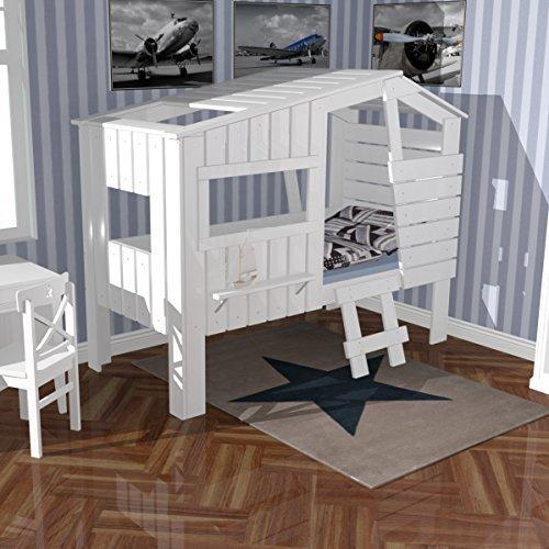 Dannenfelser Möbel Spielbett Hochbett STRANDHAUS Höhlenbett Baumhausbett Kinderbett Hüttenbett Massivholz...