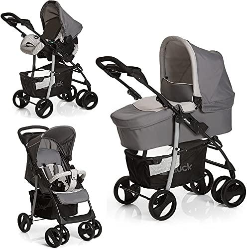 Hauck Kombi Kinderwagen Shopper SLX Trio Set / inkl. Baby Wanne mit Matratze / Reise System mit Autositz /...