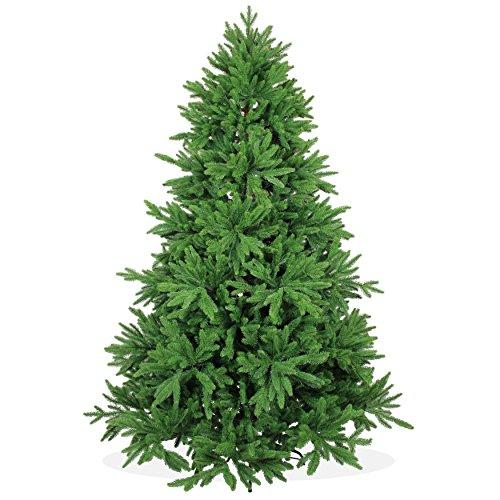 DekoLand Deluxe Pe Spritzguss Weihnachtsbaum künstlich 210 cm (Ø 150 cm) 1174 Zweige (5195 Spitzen), grün,...