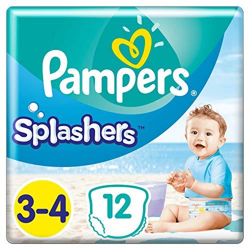 Pampers Splasher Schwimmhose Carry Pack Größe 3-4, 96 Windeln (8x 12 Windeln)