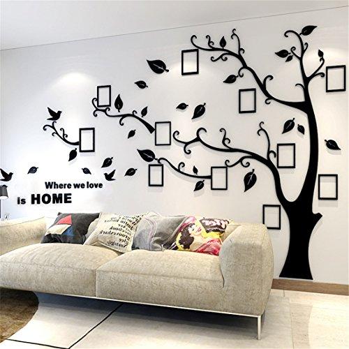 Wandtattoo Baum 3D DIY Wandaufkleber Sticker mit Bilderrahmen Foto Baum Wandsticker Wanddeko Deko für Hause...