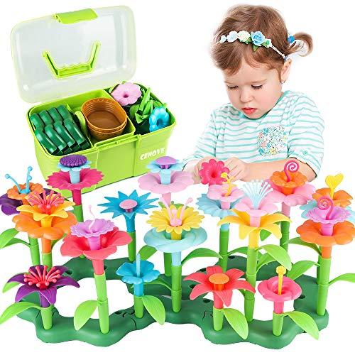 CENOVE Blumengarten Spielzeug für 3-6 Jährige Mädchen, DIY Bouquet Sets mit Aufbewahrungskiste, Kunst...