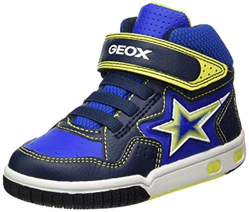 Geox Jungen JR Gregg A Hohe Sneaker, Blau (Navy/Lime), 31 EU