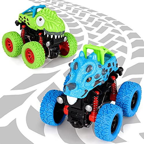 Spielzeug ab 2 3 4 5 Jahre Junge, Dinosaurier Spielzeug Auto Geschenke für Jungen 3-8 Jährige Dino Spielzeug...