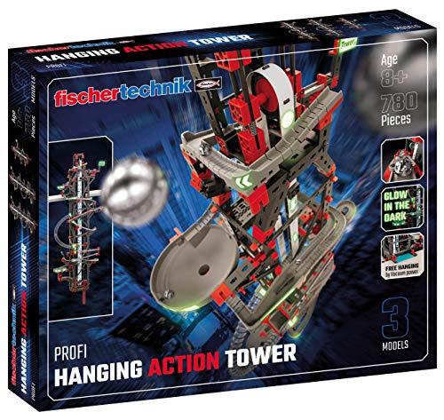fischertechnik 554460 Hanging Action Tower ab 8 Jahren die weltweit erste Kugelbahn, die an Regalen und...