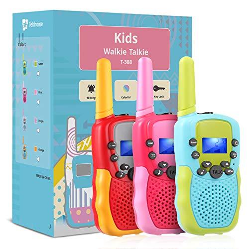 TekHome 3 4 5 6 Jährige Mädchen Junge Spielzeug, Geschenk 7 8 9 10 Jahren, Walkie Talkie Kinder 3er Set 3km...
