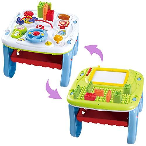 Playgo Activity Motorik Spieltisch ab 12 Monate Maltafel Lenkrad Bausteine Sounds uvm
