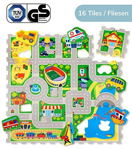 Hakuna Matte Puzzlematte für Babys City – TÜV SÜD GS Zertifiziert – 20% dickere Spielmatte in Einer...