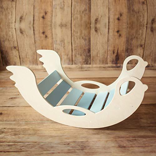 Nobsi Bogenwippe aus Holz - handmade Schaukelwippe für Babys, Kinder und Kleinkinder ab 12 Monaten, ideales...