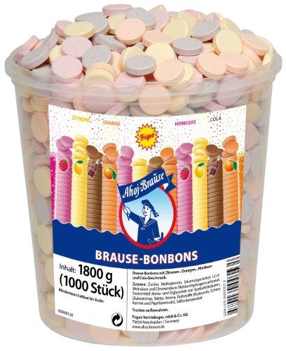 Frigeo Ahoj-Brause, Die Klassiker: runde Brause-Bonbons in den vier Geschmacksrichtungen Zitrone, Orange,...