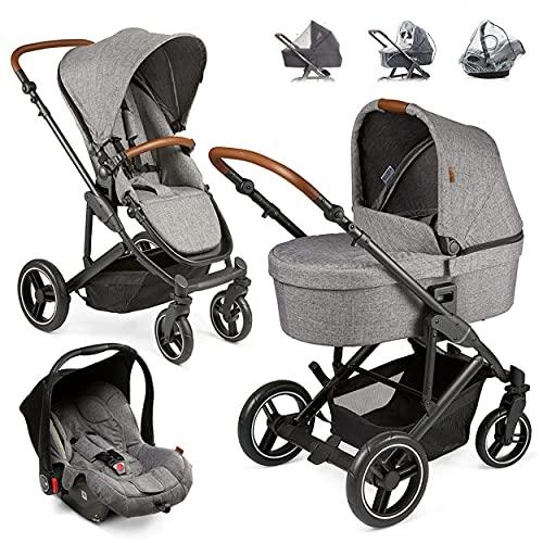 ABC Design Kinderwagen Set 3in1 Catania 4 mit Babyschale, Wanne und Sportwagen - Kombikinderwagen mit viel...