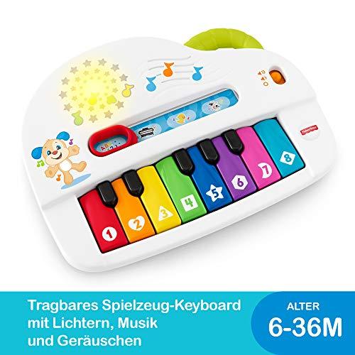 Fisher-Price GFK01 - Babys erstes Keyboard, Piano Lernspielzeug mit Liedern, Geräuschen und Sätzen ab 6...