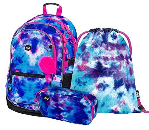 Schulrucksack Set Mädchen 3 Teilig, Schultasche ab 3. Klasse, Grundschule Ranzen mit Brustgurt, Ergonomischer...