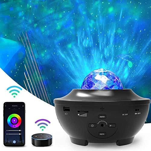 Amouhom Wifi Smart Sternenhimmel Projektor, LED Sternenlicht Projektor mit Voice Kontrolle, Bluetooth und...