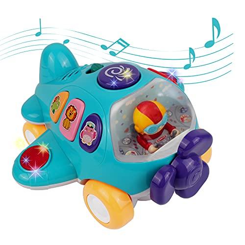 DeeXop Baby Spielzeug Vor 18+ Monaten Spielzeug mit Licht und Musik elektronisches Flugzeug Spielzeug Best...