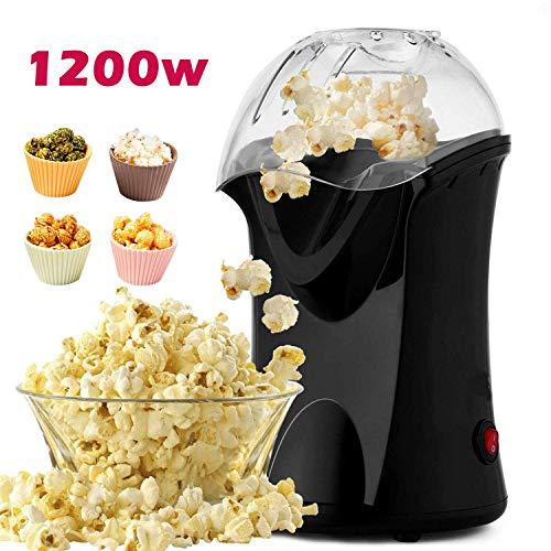 Professionelle Meykey Popcornmaschine für Zuhause zum selber machen, 1200W Heißluft Popcorn Maker, Öl ist...
