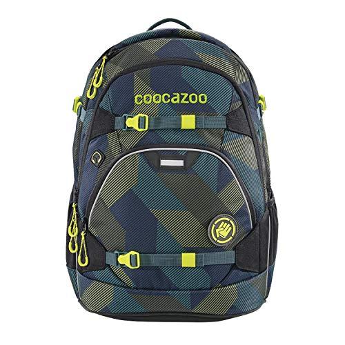 coocazoo Schulrucksack ScaleRale Polygon Bricks blau-grau, ergonomischer Tornister, höhenverstellbar mit...