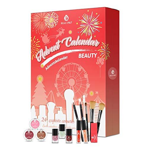 Beauty Adventskalender 2020, Kosmetik Geschenkset für Mädchen Frauen Damen Erwachsene Paare, 24 Stylische...