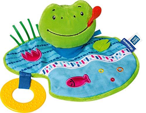 Ravensburger ministeps 4156 Knister-Frosch, Schmusetuch mit Beißring und Knister-Geräusch, Baby Spielzeug ab...