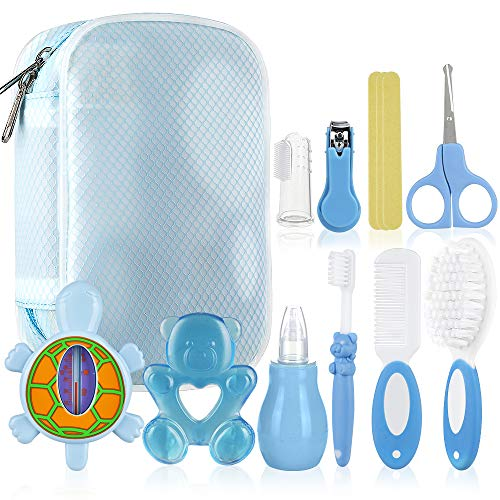 Baby Thermometer Nagelschere Babybürste und Nasensauger NUK Pflegeset 4-teillig