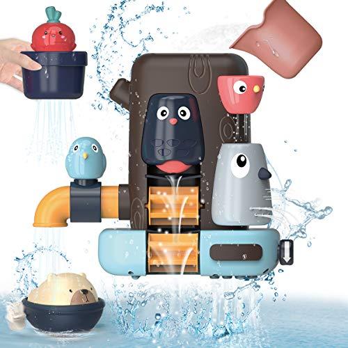 REMOKING Badespielzeug Set für Baby Kinder, Multifunktionales Badewannenspielzeug, Kleines Vogelbaumhaus,...