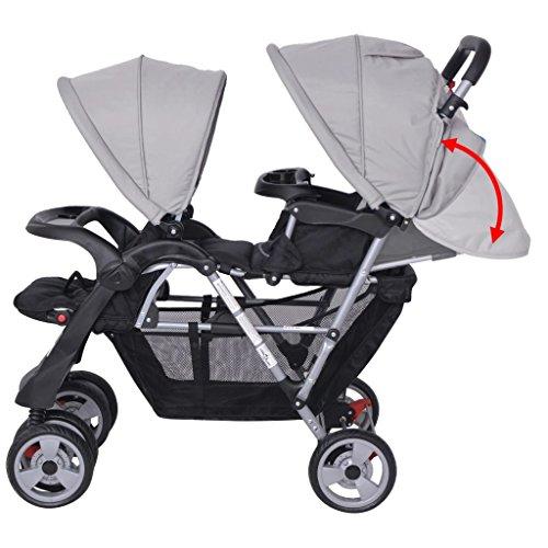 Vislone Geschwister Zwillings - Kinderwagen für Babys und Kleinkinder, Zwillingsbuggy, Geschwisterwagen,...