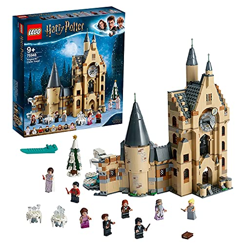 LEGO 75948 Harry Potter Hogwarts Uhrenturm Spielzeug kompatibel mit der Großen Halle und der Peitschenden...