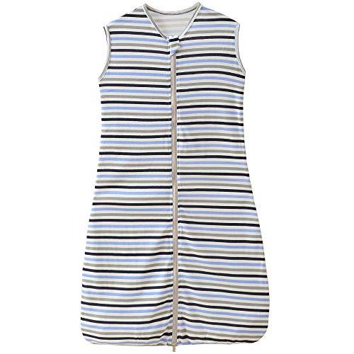 Schlafsack Baby Sommer mädchen Junge Frühling Schlafanzug Baumwolle dünner neugeboren Streifen Schwarz Blau...