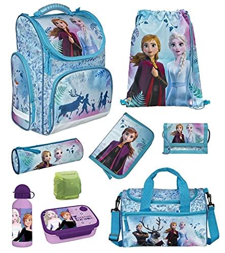 Familando Frozen Mädchen Schulranzen-Set 9-TLG. Modell CLOU Ranzen 1. Klasse | Schul-Tasche Disney Die...