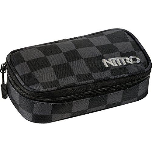 Nitro Pencil Case XL inkl. Geo Dreieick & Stundenplan, Federmäppchen, Schlampermäppchen, Faulenzer Box,...