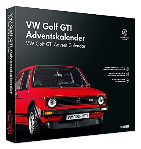 FRANZIS 55102 - VW Golf GTI rot Adventskalender 2021 - in 24 Schritten zum VW Golf GTI unterm Weihnachtsbaum,...